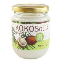 Kokosolja virgin, krav raw&eko, 200 ml