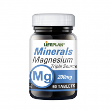 Magnesium Triple Source 200 mg 60 tab Lifeplan