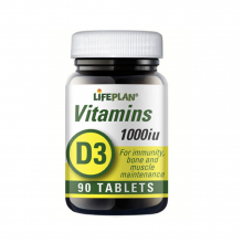 Vitamin D 1000IE 90tab Lifeplan
