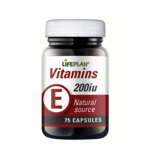 Vitamin E 200IE 75kap Lifeplan